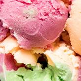 Rainbow Sherbert ice cream