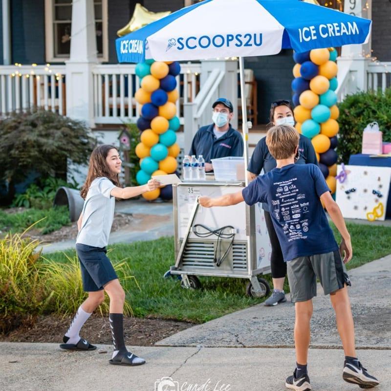 Kids and Ice Cream Cart